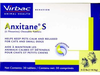 Anxitane S (L Theanine) Small Dog & Cat 50mg (30 ct)