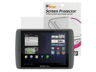 GTMax Clear LCD Screen Protector Film Guard for Archos 80 G9 Turbo 250GB 8 inch Touchscreen Android Tablet