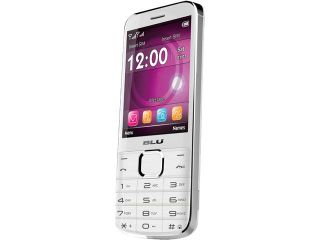 Blu Diva X T372T White Dual SIM Unlocked Cell Phone w/ Flashlight