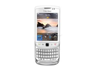 "BlackBerry Torch White 3G Unlocked GSM Smart Phone w/ 3.2"" Touch Screen / Full QWERTY Keyboard / BlackBerry OS 6.0 (9800)"