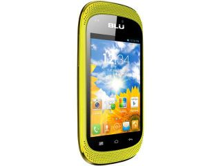 Blu Dash Music D172A Yellow 3G 1.0GHz Unlocked GSM Dual SIM Android Cell Phone