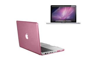 2 in 1 MacBook Pro® 13'' A1278   Pink Crystal See Thru Hard Plastic Case Cover + Anti Glare Screen Protector