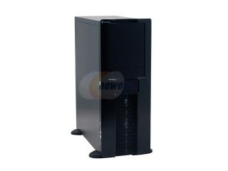 SilverStone TEMJIN TJ06B W Black Aluminum front panel, 0.8mm SECC body ATX Full Tower Computer Case
