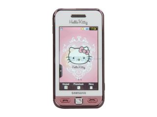"Samsung Star Hello Kitty Unlocked GSM Bar Phone w/ 3"" Touch Screen / Bluetooth v2.1 (International Version) (S5230)"