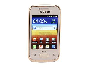 Samsung Galaxy Y Duos GT S6102B White Single Core 830MHz Unlocked Dual SIM GSM Smart Phone