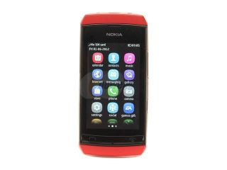 "Open Box Nokia Asha 306 Red Unlocked GSM Touch Screen Smart Phone with Wi Fi / Bluetooth / 2 MP Camera / 3.0"" Display"