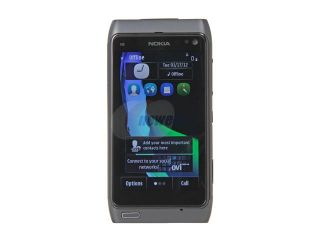 "Nokia N8 00 Gray 3G Unlocked GSM Smart Phone w/ 12MP Camera / 3.5"" AMOLED Touch Screen / GPS / Wi Fi (N8)"