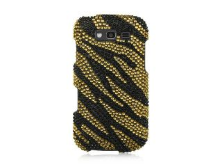 Samsung Galaxy S Blaze 4G/Samsung T769 Gold with Black Zebra Design Full Diamond Case