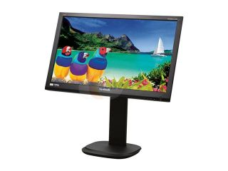 "ViewSonic VG2436wm LED Black 24"" Full HD Height,Swivel &Pivot Adjustable LED Backlight LCD Monitor 300 cd/m2 DC 20,000,000:1(1,000:1) w/Speakers"