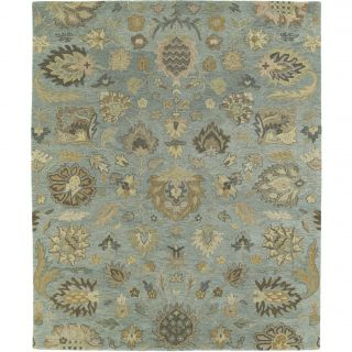 Christopher Kashan Hand tufted Light Blue Rug (5 X 79)