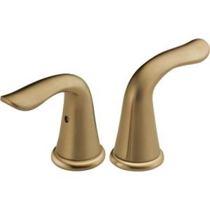 Delta Lahara Lever Handles for Bathroom Faucets in Champagne Bronze H238CZ